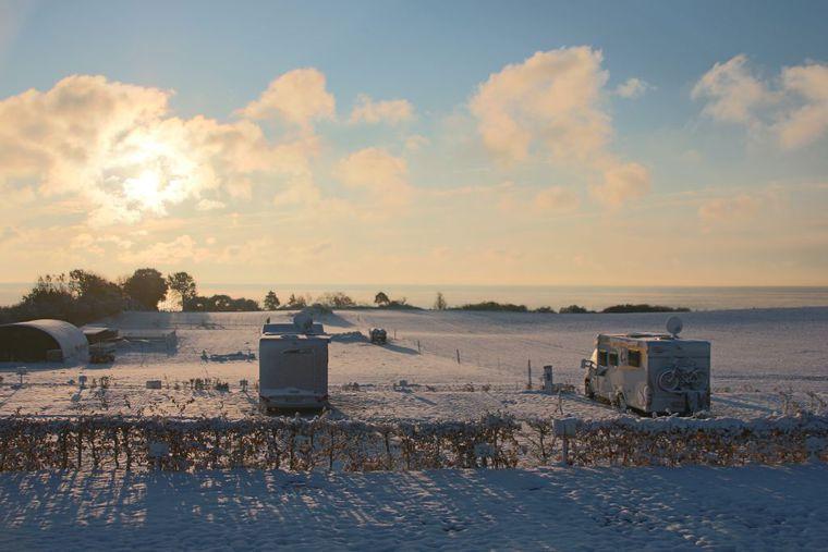 WoMo Park im Winter